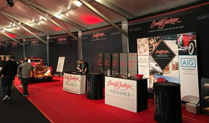 The PCG booth onsite at the Barrett-Jackson Scottsdale auction.